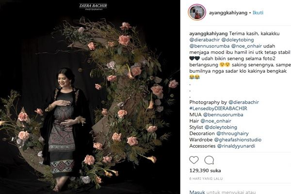 Kahiyang Ayu - Instagram@ayanggkahiyang