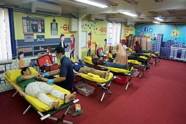 ilustrasi kegiatan donor darah Indosat M2 - istimewa