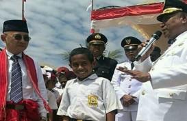 Ini Pahlawan Cilik di Balik Berkibarnya Bendera Merah Putih di Mota'ain Atambua
