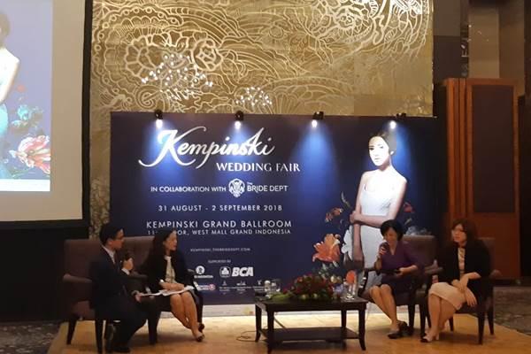 Konferensi Pers Penyelenggaraan Kempinski Wedding Fair 2018 - Bisnis/Asteria Desi Kartika Sari