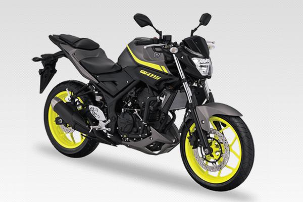 Yamaha MT-25 adalah sepeda motor sport bermesin 249 cc produksi Yamaha Motor Company yang diluncurkan pada 2015. Sepeda motor ini merupakan versi telanjang dari YZF-R25.  - YAMAHA