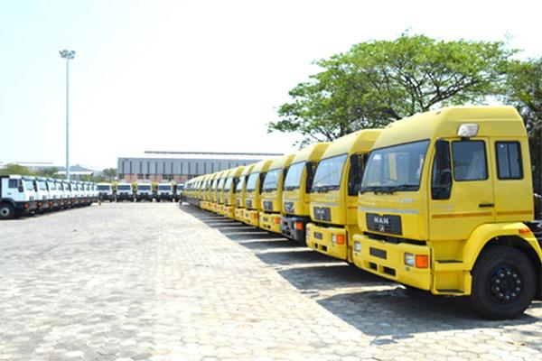 Deretan truk MAN CLA di kawasan pabrik Pithampur di Madhya Pradesh, India.  - mantruckandbus.com