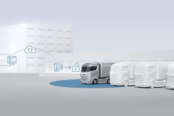 Sistem akses tanpa kunci pertama untuk kendaraan truk Bosch.  - BOSCH