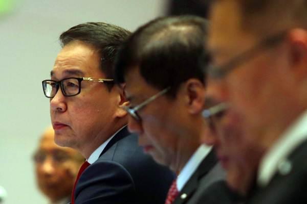 Presiden Direktur PT Astra International Tbk (ASII) Prijono Sugiarto memberikan penjelasan saat Rapat Umum Pemegang Saham Tahunan di Jakarta, Rabu (25/4/2018). - JIBI/Abdullah Azzam