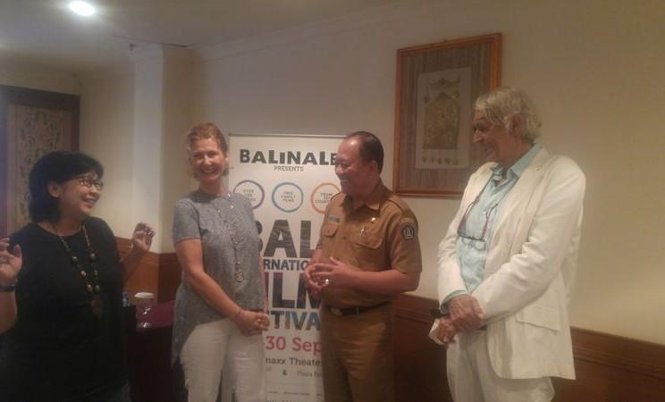 Suasana konferensi pers Bali International Film Festival di Nusa Dua, Bali, Selasa (28/8). Festival yang lebih dikenal sebagai Balinale ini akan digelar pada 24-30 September 2018 dan menayangkan lebih dari 100 film. - Bisnis/Ni Putu Eka Wiratmini