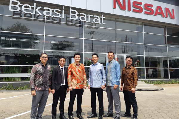 Dealer Nissan-Datsun keempat di Bekasi, dan ke-105 unit di Indonesia.  - BISNIS.COM/Thomas Mola