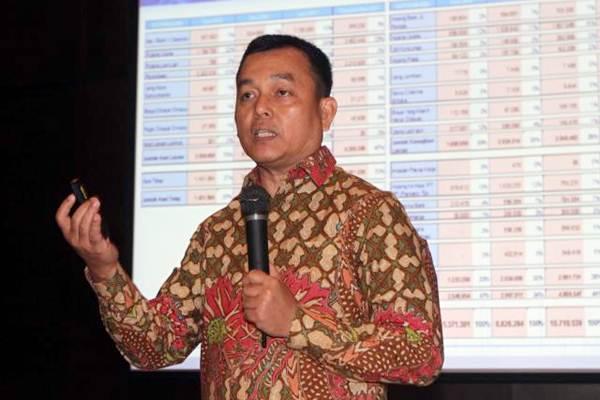 Direktur Utama PT PP Properti Tbk Taufik Hidayat memaparkan kinerja perseroan, di Jakarta, Selasa (25/7). - JIBI/Endang Muchtar