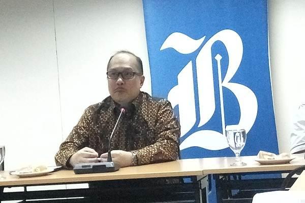 CFO Wijaya Karya Steve Kosasih berkunjung ke kantor Bisnis Indonesia.  -  Bisnis/swi
