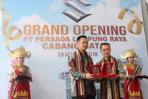 Peresmian Outlet ke-326 Unit Suzuki di Lampung, Rabu (29/8/2018).  - SUZUKI
