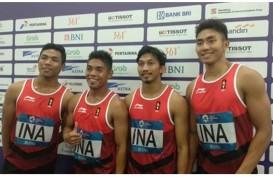 Zohri, Fadlin, Eko, dan Bayu Sumbang Medali Perak dari Nomor Estafet 4×100 Meter Putra