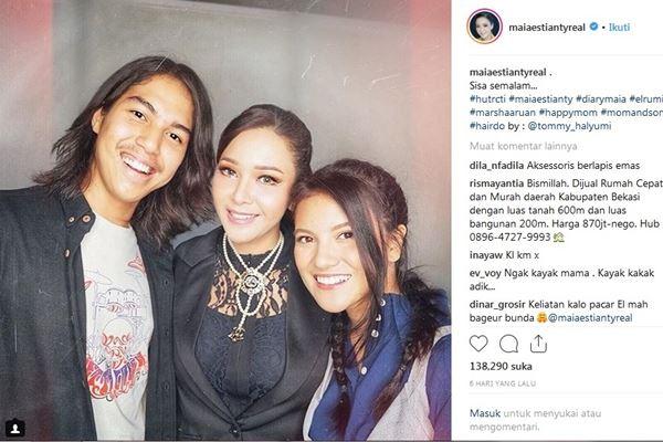 El Rumi, Maia Estianty, dan Marsha Aruan - Instagram@miaestiantyreal