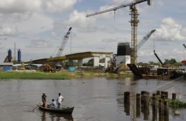 Progres Jembatan Siak IV Pekanbaru Capai 43%