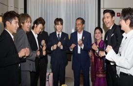 Super Junior dan Presiden Jokowi Goyang Dayung di Seoul