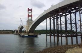 Konstruksi Jembatan Pulau Balang di Kaltim Capai 58,23%