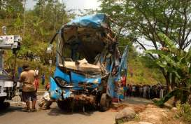Rombongan Bus SMK PGRI Karanganyar Kecelakaan, 46 Orang Luka-Luka