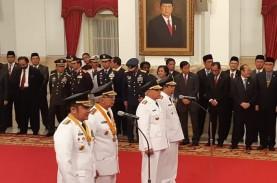 Jokowi Lantik Gubernur-Wakil Gubernur Sumsel dan Kaltim