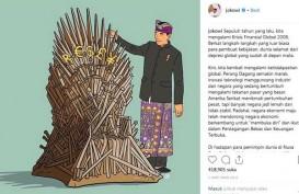 Ilustrasi Jokowi dan Iron Throne di 'Game of Thrones'