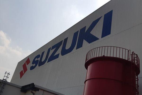 Pabrik PT Suzuki Indomobil Motor di Cikarang, Bekasi, Jawa Barat. - Bisnis/Yusran Yunus