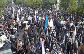 Protes Pembakaran Bendera Bertuliskan Kalimat Tauhid, Demo di Kantor NU Solo Ricuh