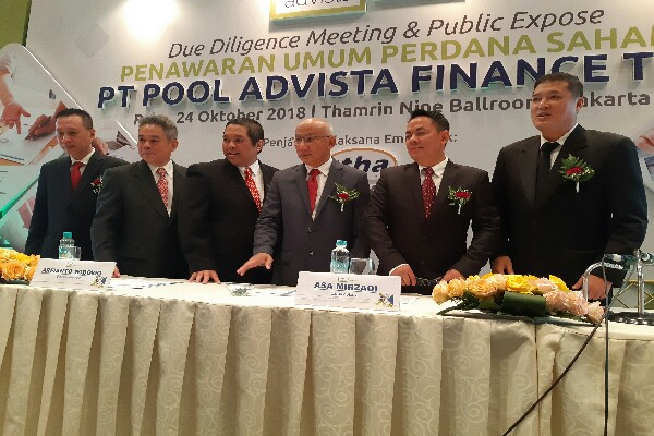 Jajaran Direksi PT Pool Advista Finance Tbk. /Bisnis - Emanuel B. Caesario