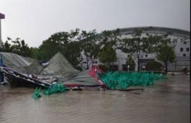Hujan dan Angin Kencang Terjang Kompleks Jakabaring Sport City Palembang. Ini Kerusakan yang Terjadi