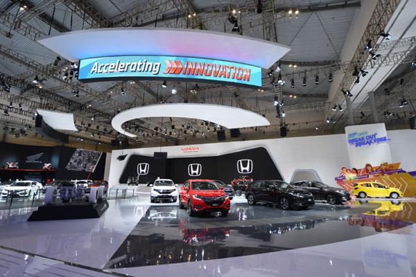 Booth Honda di GIIAS 2018.  - HONDA