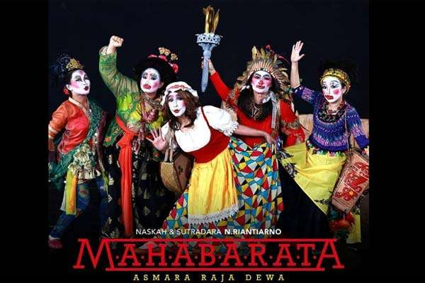 Lakon Mahabarata bertitel Asmara Raja Dewa. Foto: akun facebook Teater Koma