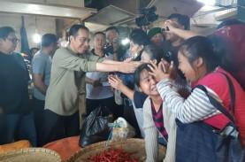 Minggu Pagi, Presiden Jokowi Blusukan di Pasar Cihaurgeulis…