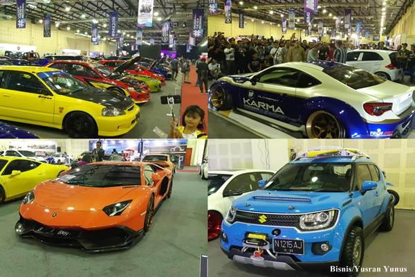 Suasana penyelenggaraan pameran modifikasi dan aftermarket pertama dan terbesar di Indonesia, Indonesia Modification Expo (IMX) 2018 yang berlangsung pada 17-18 November di Balai Kartini Jakarta Selatan/Bisnis - Yusran Yunus