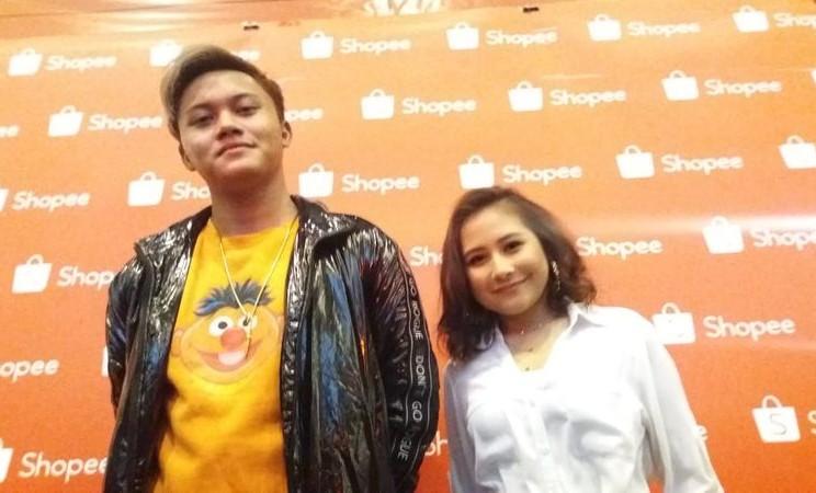 Rizky Febian dan Prilly Latuconsina saat ditemui di Sentul International Convention Center, Bogor, Senin (19/11/2018). - Bisnis/Nur Faizah Al Bahriyatul Baqiroh