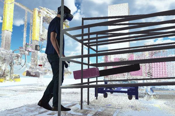 Realitas virtual di bagian produksi BMW.  - BMW
