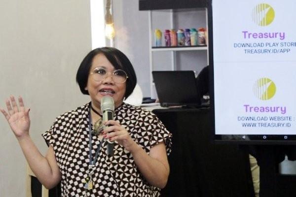 Dian Supolo, CEO Treasury dalam acara launching Treasury di Jakarta, Eabu (21/11/2018). - IST