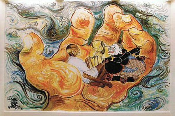 Salah satu karya lukisan Affandi - Istimewa