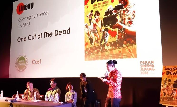 """""""One Cut of the Dead"""" adalah salah satu film yang bakal ditayangkan di Japan Cinema Week 2018 di Jakarta pada 7-16 Desember 2018. Secara keseluruhan, ada 36 film dari Negeri Sakura yang akan ditayangkan selama sepekan penuh. - Bisnis/Tika Anggraeni Purba"""