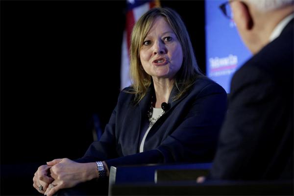Mary Barra, Chairwoman and CEO of General Motors, berdiskusi tentang masa depan industri otomotif dan ekonomi AS di Washington, 28 Februari 2017.  - REUTERS