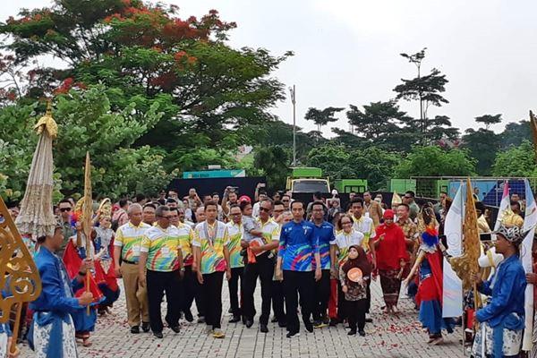 Presiden Joko Widodo menghadiri Peringatan Hari Disabilitas Internasional Tahun 2018 di Bekasi, Senin (3/12 - 2018). (istimewa)
