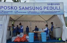 Bantu Pengungsi di Palu, Samsung Operasikan 10 Mesin Cuci Pakaian Gratis