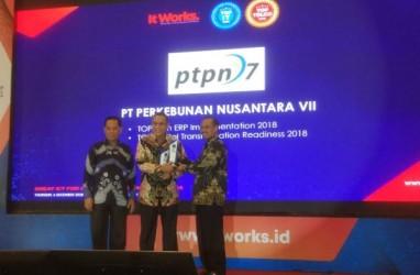 PTPN VII Raih Dua Penghargaan TOP IT & TELCO 2018