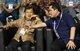 Bertemu Wapres JK, Erick Thohir Sebut Efisiensi Asian Games Rp2,8 Triliun
