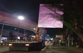 Penertiban Reklame di Palembang Berlanjut