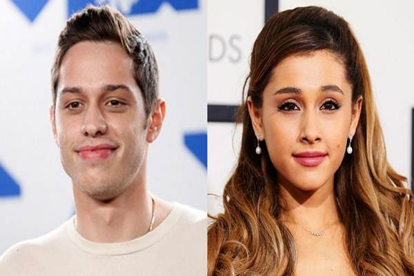 "Bintang ""Saturday Night Live"" Pete Davidson (kiri) dan bintang ""pop"" Ariana Grande - KMVU"