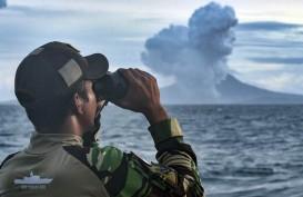Aktivitas Anak Krakatau Terpantau Menurun