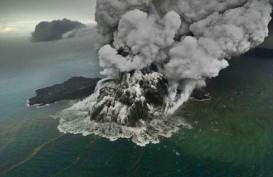 Volume Gunung Anak Krakatau Menyusut 180 Juta Meter Kubik