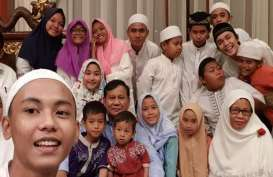 Di Malam Pergantian Tahun, Prabowo Do'a Bersama Anak Yatim Piatu