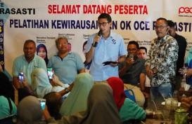 Sandiaga Optimistis Ekonomi Membaik dengan Gerakan Nasional Ok Oce