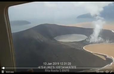 Krakatau Terkini, 13 Januari 2019, Muntahan Zat Besi hingga Perubahan Morfologi