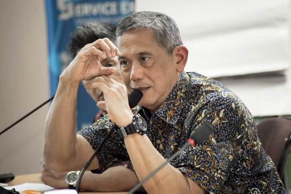 Presiden Direktur PT Bumi Resources Tbk. Ari S. Hudaya memberikan paparan dalam kunjungannya ke kantor Bisnis Indonesia, di Jakarta, Selasa (28/8/2018). - JIBI/Felix Jody Kinarwan