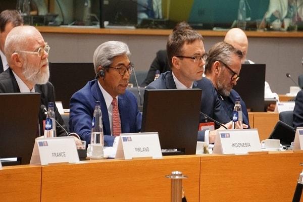Wakil Menteri Luar Negeri A.M. Fachir kala menghadiri pertemuan menteri Asean-Uni Eropa - Dok. Kementerian Luar Negeri RI