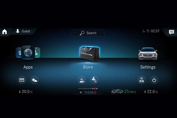 Pemesanan peralatan opsional dalam mobil dapat dilakukan secara online setelah pembelian kendaraan.  - DAIMLER