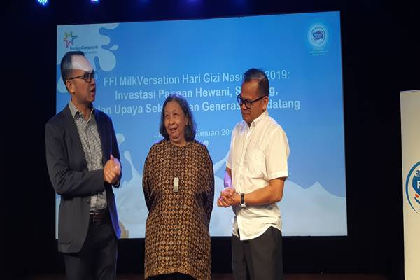 Frisian Flag Indonesia MilkVersation Hari Gizi Nasional 2019, di Jakarta (23/1), menghadirkan pembicara Damayanti Rusli Sjarif. JIBI/BISNIS - Tika Anggreni